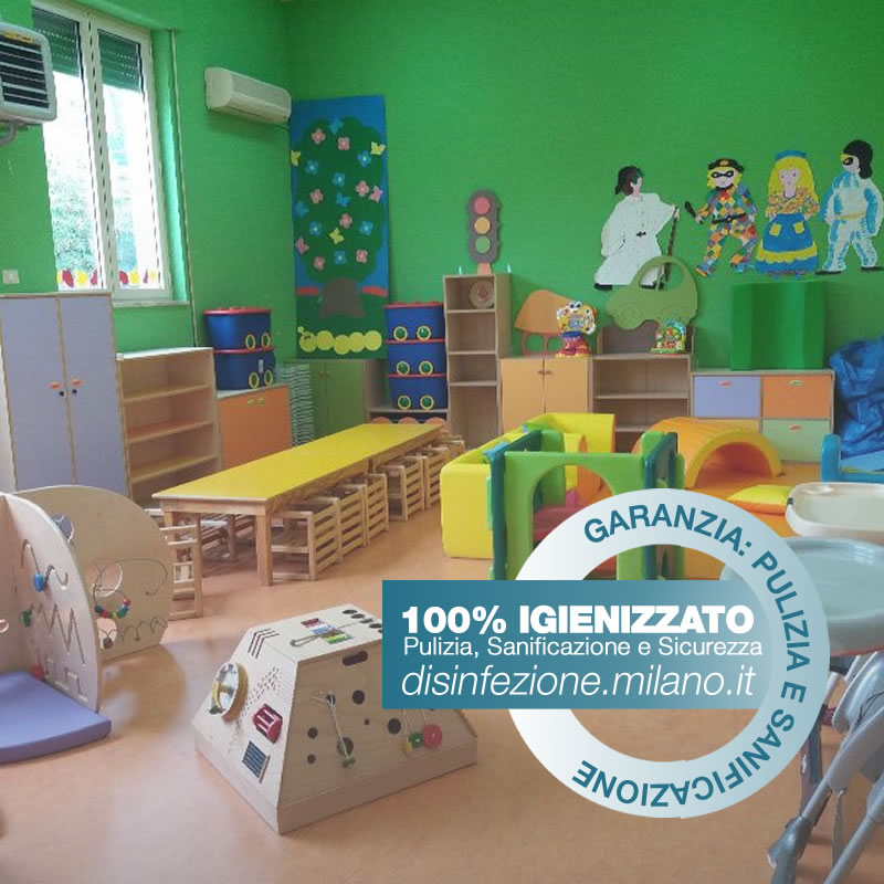 Igienizzazione ed Igienizzazione  ASILI NIDO E LUDOTECHE Conciliazione Milano