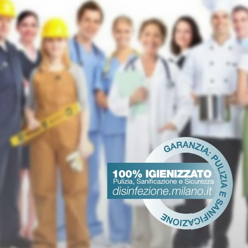 Sanificazione, Igienizzazione ed Igienizzazione  DIVISE DA LAVORO Conciliazione Milano