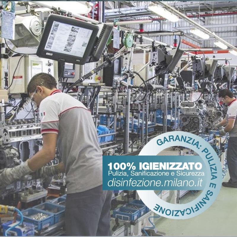 Sanificazione, Igienizzazione ed Igienizzazione  FABBRICHE Conciliazione Milano
